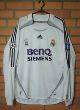 Real Madrid Home football shirt 2006-2007 cup long slevee size 2XL jersey Adidas