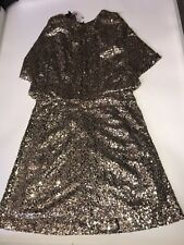 Laposhme Gold sequin christmas party dress By Cutie House Of Fraser size 10