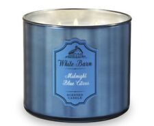 """Bath and Body Works 3-wick White Barn  ~ """"Midnight Blue Citrus"""" Scented Candle"""