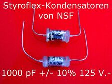 100 Stück NSF Styroflex Kondensatoren Elektronische Bauelemente  Elektronik & Me