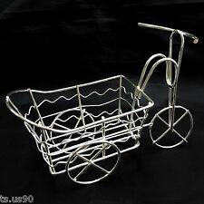 Silver Wire Rickshaw Trolley Wheel Car 1:16 Doll's House Dollhouse Miniature