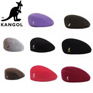 KANGOL Ladies Beret Hat Vintage Classic Newsboy Seamless Mens Wool Flat Cap UK