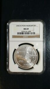1994 W P.O.W. NGC MS69 Commemorative $1 Coin Auction Starts at 99 Cents!