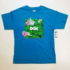 DGK mens 100% authnetic S/S t-shirt size Large blue money grows on trees