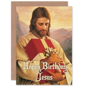 Christmas Xmas Merry Happy Birthday Jesus Funny Blank Greeting Card