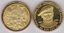 BOXED 1976 22ct GOLD ON SILVER MEDAL IN MINT CONDITION MONTGOMERY