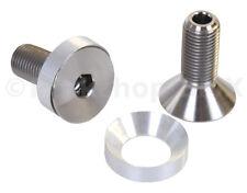 "3/8"" X 24T BMX crank spindle HOLLOW bolts w/ washers fits Profile PAIR TITANIUM"