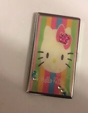 Hello Kitty Mirror Tissue Cigarette Case Business Credit Card Holder!