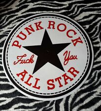 PUNK ROCK ALL STAR  TURNTABLE (RECORD PLAYER) SLIPMAT.