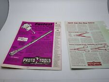 1953 Proto Tool News Catalog Snips & other tools..Brochures