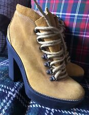 Polo Ralph Lauren ❤️ Stunning suede lace up heel Wedges ankle boots Size 5 / 38