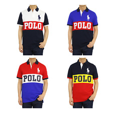 "Polo Ralph Lauren Classic Fit Big Pony Short Sleeve Polo Rugby Shirt w/ ""POLO"""