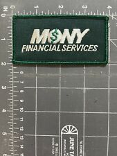 Vintage Mony Financial Services Logo Patch $ Money Mutual of New York Insurance