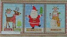 Patchwork Quilting Sewing Fabric Christmas Bundle Up Xmas Panel 60x110cm NEW