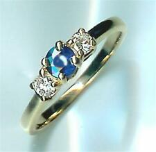 Sapphire 14kt Yg Ring, priced below cost New Right Hand Diamond and Genuine Blue