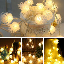 12V 10M 100LED Fairy String Lights w/DC Interface Outdoor Warm White Christmas