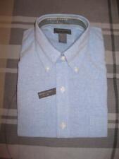Mens Size XL Dress Shirt Long Sleeves Pale Blue Saddlebred Extra Large (O)