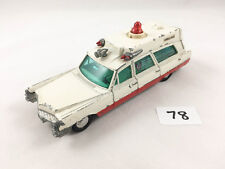 NICE DINKY TOYS # 267 CADILLAC SUPERIOR RESCUER AMBULANCE DIECAST CAR 1967-71