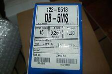 Agilent  J&W Scientific GC column DB-5MS 122-5513 gas chromatography opened card