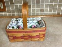 Longaberger Mother's Day Basket 1994 with Cloth Liner