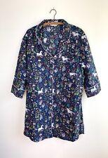 Printfresh Anthropologie Unicorns Garden Sleep Shirt nightgown pajamas indigo XL