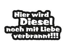 1 x 2 Plott Aufkleber Hier wird Diesel Noch Mit Liebe Verbrannt VW Bus Sticker