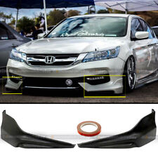 Fits 16 17 Accord 4dr Sedan Hfp Style Oe Front Bumper Lip Splitter Kit Spoiler