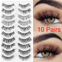 10Pairs*Multipack Thick Long False Eyelashes Wispy Lashes Extension Eye Makeup