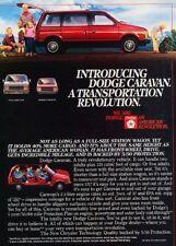 1984 Dodge Caravan Van Original Advertisement Print Art Car Ad J868