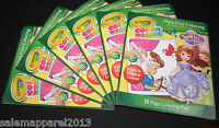 CRAYOLA COLOR WONDER MESS FREE COLOR DISNEY SOFIA THE FIRST COLOR PAD SET OF 6