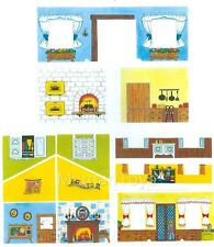 FISHER-PRICE REPLACEMENT LITHOS - #952 HOUSE INSIDE WALLS  Little People
