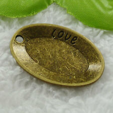 Free Ship 64 pieces bronze plated tray pendant 39x26mm #1124