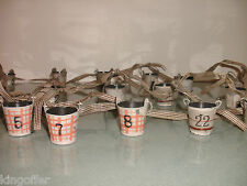 xmas advent calendar / lovely shabby chic painted metal buckets rrp £39.99