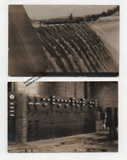 VERNON VT Hydro Dam Power Plant Room 1909 Real Photo Postcards Connecticut River