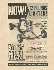 Vintage & Rare 1963 Percival Hellcat 63 1/2 Sl Cheetah Go-Kart Ad