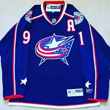 Adult Medium Reebok Sergei Fedorov Columbus Blue Jackets NHL Hockey Jersey