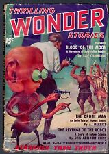 GLOSSY UNREAD Aug 1936 THRILLING WONDER STORIES Science Fiction League PROPHETIC