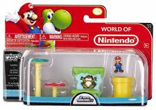 World of Nintendo Micro Land Mario & Acorn Plains playset Series 1-1 Jakks Moc