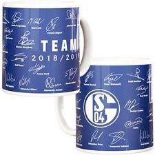FC Schalke 04 Tasse Unterschriften 2018 / 2019 Kaffeebecher Becher Team S04 Logo