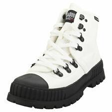 Palladium Pallashock Hkr Hi Unisex White Black Textile Casual Boots