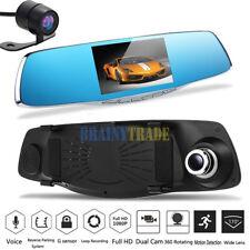 "HD 1080P 5"" Car DVR Rearview Mirror Dual Lens Camera Dash Cam Video Recorder"