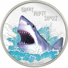2007 ~ AUSTRALIA ~1~OZ~SILVER~ GREAT WHITE SHARK ~ RARE PROOF ~BOX~ COA ~$288.88
