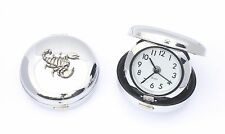 Scorpion Style Travel Alarm Clock Flip Up Quartz Ideal Wildlife GIft