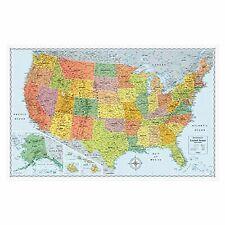 Rand McNally U.S. Physical/Political Map, Dry Erase, Single - AVTRM528012762