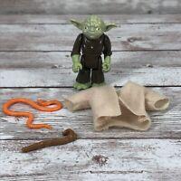 Vintage Kenner Star Wars Figure Master Yoda w/Cane Cloak Snake 1980 Hong Kong