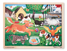 Melissa and Doug Pets Wooden Jigsaw Puzzle 24pcs #9059 Pieces New Sealed