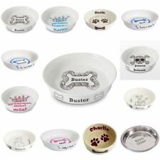 Cat Supplies 2 X Luxury Porcelain Heavyweight Paw Cat Pet Cream Food Water Bowl Saucer 12cm Be Novel In Design Pet Supplies