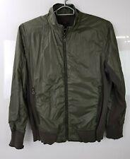 Men's Hugo Boss Reversible Jacket Coat Green Size Large Frayed Cuffs & Hem   120