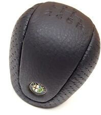 New GENUINE Alfa Romeo GTV Spider 166 Black leather 6 Speed Gear Knob 156021700