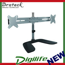 Brateck Free Standing Dual Horizontal LCD Monitor Stand from 13-27 BT-LDT02-T02